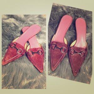 Authentic Gucci Horsebit Suede leather shoes.